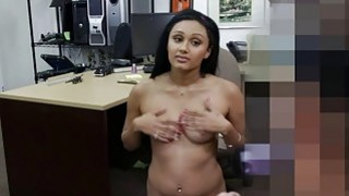 Cute desperate college chick gets fuck for money