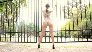 Bottomless public flash by Jeny Smith