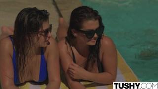 Keisha Grey and Leah Gotti getting anal fucked