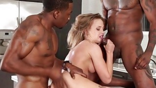 Teen babe takes black cocks in her pussy