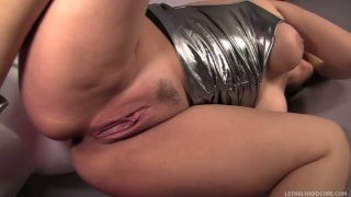 Chubby blonde Sara Vandella blows dick in the dirty glory hole room