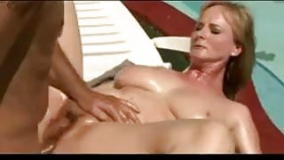 Hairy Blonde MILF With Big Tits