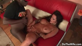 Black Stud Satisfies Cuckolding Wife Nikita Denise with His Tongue and Cock
