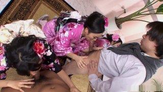 Uta Kohaku, Sanae Momoi and Hina are learning new things