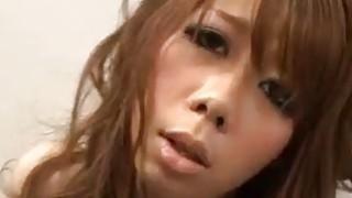 Sakura blows before palcing cock in her tight vag