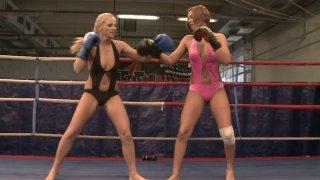 Cipriana and Barbie White dress like slutty super heroes