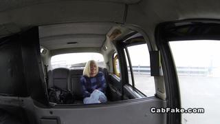 Cab driver fucks big ass blonde public reality