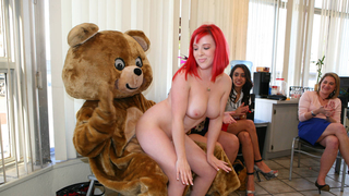Faapy party are so wild that even the bear gets some pussy