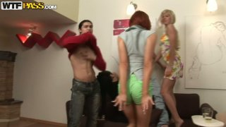 Wild half-naked Russian students party hard