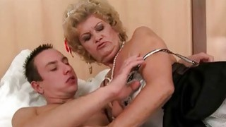 Old maid enjoys sex with young man