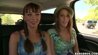 Slutty tourist Delta White and her friends wanna please each other